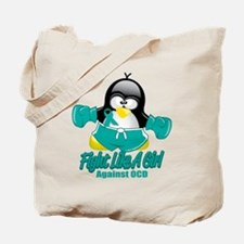 OCD Fighting Penguin Tote Bag