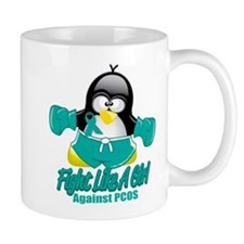 PCOS Fighting Penguin Small Mugs