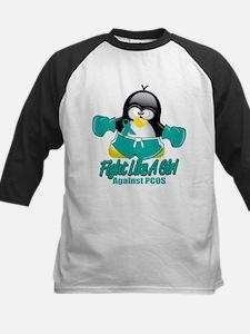 PCOS Fighting Penguin Kids Baseball Jersey
