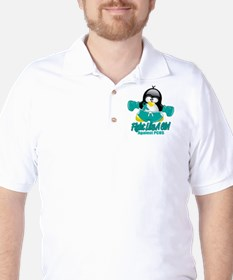 PCOS Fighting Penguin Golf Shirt