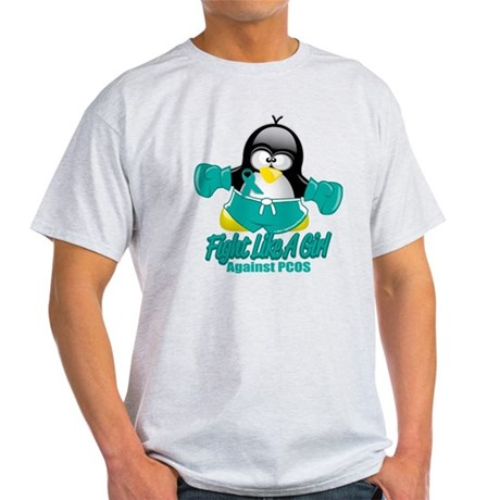 PCOS Fighting Penguin Light T-Shirt