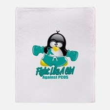 PCOS Fighting Penguin Throw Blanket