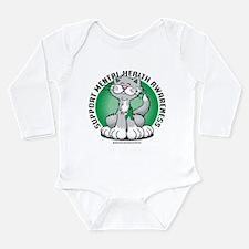 Mental Health Cat Long Sleeve Infant Bodysuit