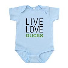 Live Love Ducks Infant Bodysuit