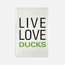 Live Love Ducks Rectangle Magnet