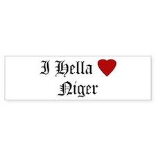 Hella Love Niger Bumper Bumper Sticker
