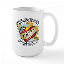 OCD Classic Heart Tattoo Mug