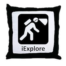 iExplore Throw Pillow