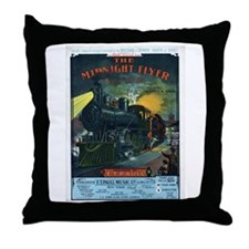 The Midnight Flyer Throw Pillow
