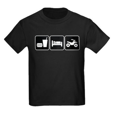 Eat Sleep ATV Kids Dark T-Shirt