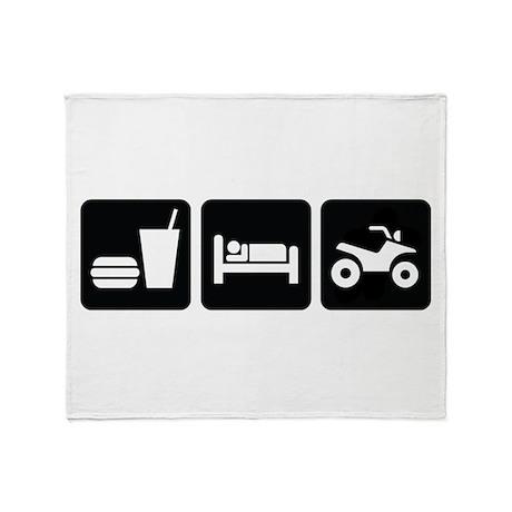 Eat Sleep ATV Throw Blanket