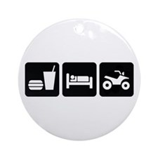 Eat Sleep ATV Ornament (Round)