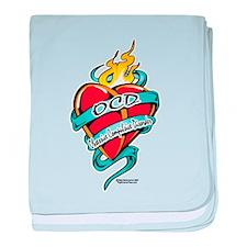 OCD Tattoo Heart baby blanket