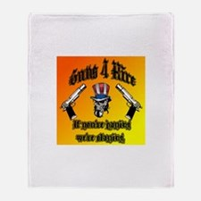Guns 4 Hire Memorabilia Throw Blanket