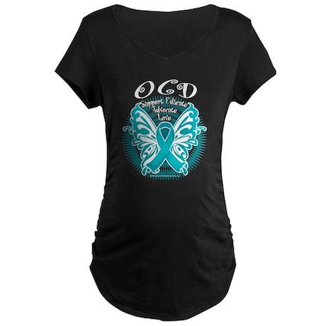 OCD Butterfly 3 Maternity Dark T-Shirt