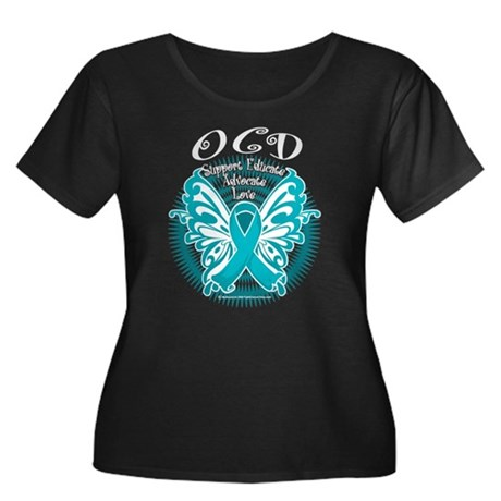 OCD Butterfly 3 Women's Plus Size Scoop Neck Dark