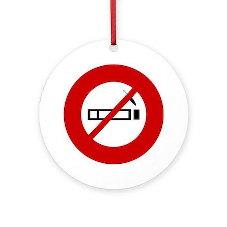 Anti Smoking Ornament (Round)