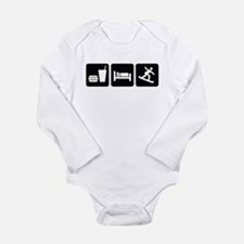 Eat Sleep Snowboard Long Sleeve Infant Bodysuit