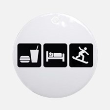 Eat Sleep Snowboard Ornament (Round)