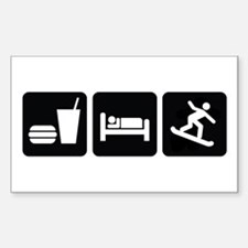 Eat Sleep Snowboard Sticker (Rectangle)