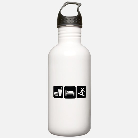 Eat Sleep Snowboard Water Bottle