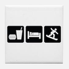 Eat Sleep Snowboard Tile Coaster