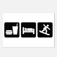 Eat Sleep Snowboard Postcards (Package of 8)