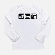 Eat Sleep Fish Long Sleeve Infant T-Shirt