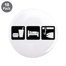 "Eat Sleep Fish 3.5"" Button (10 pack)"