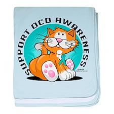 OCD Cat baby blanket