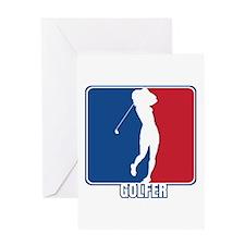 Major League Womens Golf Greeting Card