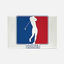 Major League Womens Golf Rectangle Magnet