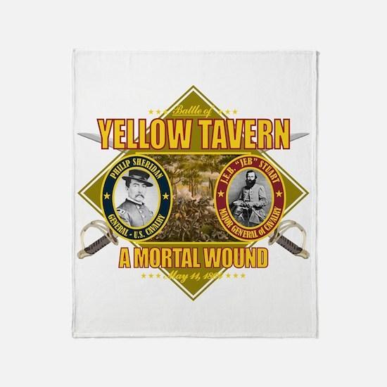 Yellow Tavern Throw Blanket