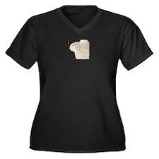 Ooo La La Women's Plus Size V-Neck Dark T-Shirt