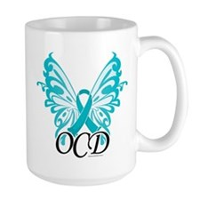 OCD Butterfly Ribbon Mug