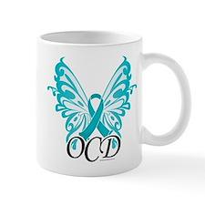 OCD Butterfly Ribbon Mug