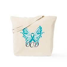 OCD Butterfly Ribbon Tote Bag