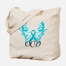 OCD Butterfly Ribbon Tote Bag