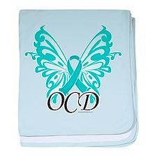 OCD Butterfly Ribbon baby blanket