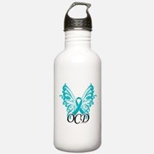 OCD Butterfly Ribbon Water Bottle