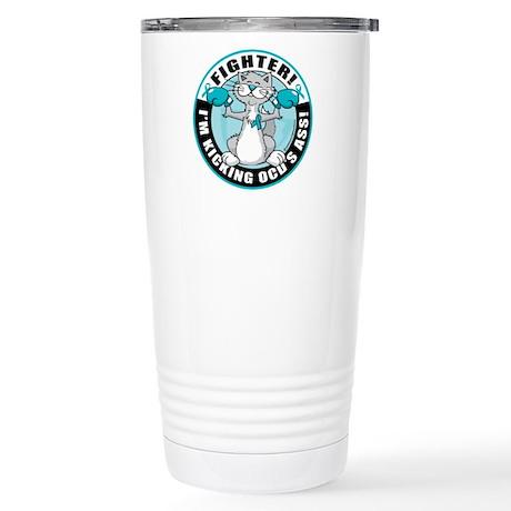 OCD Fighter Cat Stainless Steel Travel Mug