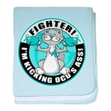 OCD Fighter Cat baby blanket