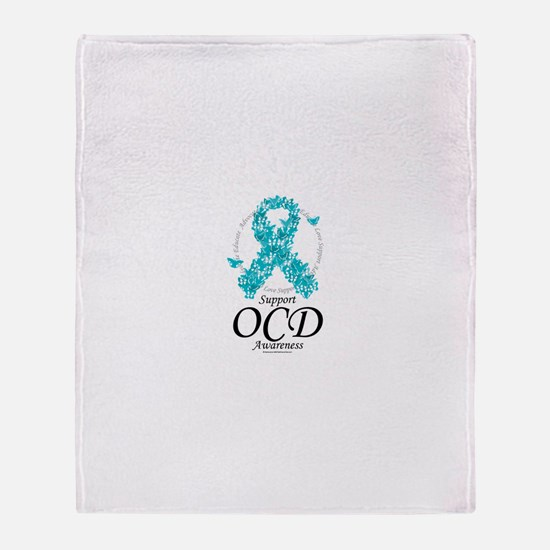 OCD Ribbon of Butterflies Throw Blanket