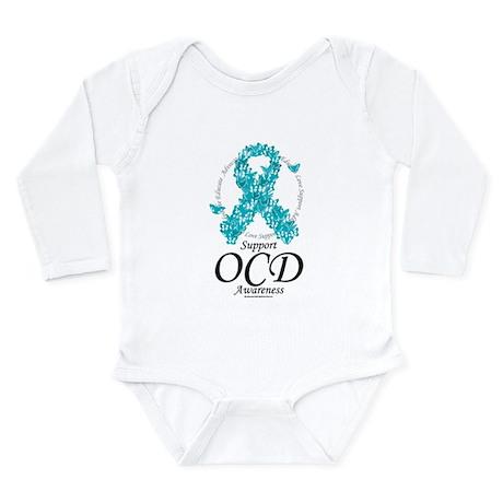 OCD Ribbon of Butterflies Long Sleeve Infant Bodys