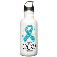 OCD Ribbon of Butterflies Water Bottle