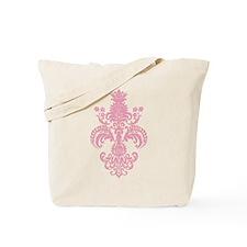 Fleur Meditation Pink Tote Bag