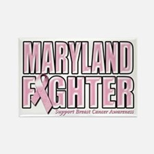 Maryland Breast Cancer Fighter Rectangle Magnet