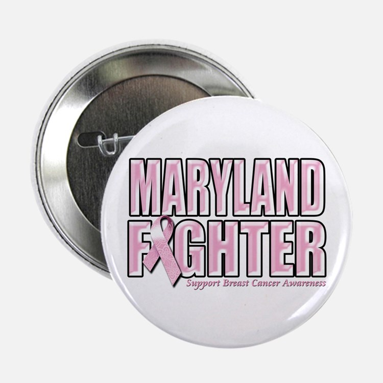 "Maryland Breast Cancer Fighter 2.25"" Button"
