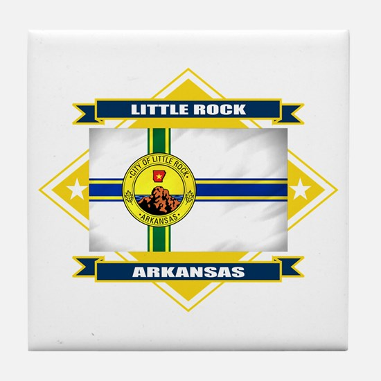 Little Rock Flag Tile Coaster