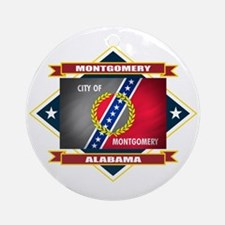 Montgomery Flag Ornament (Round)